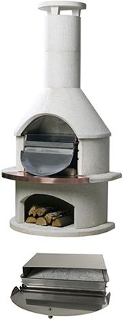 View the Pizza Oven Insert  for All Buschbeck Masonary BBQ