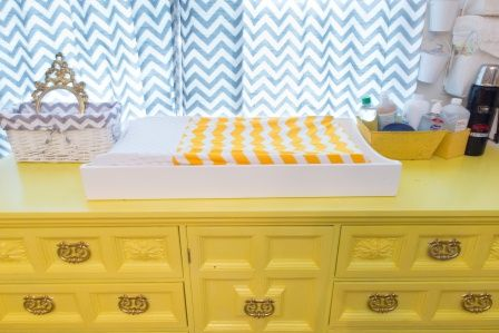 This vintage dresser was a Craigslist find! #nursery #vintage