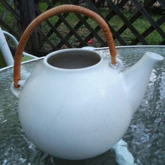 Mid  Century modern Arabia Finland ceramic teapot.