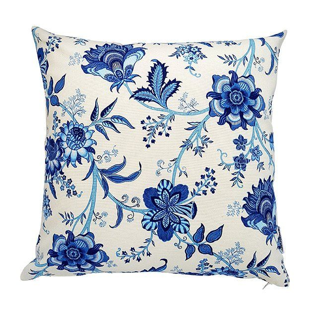 Hamptons Style Cushion Hamptons Floral Cushion Blue And White Cushion Cover Scatter Cushion Seat Cushion Sofa Cushion Hamptons Style White Cushion Covers Throw Pillow Styling