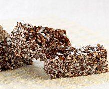 Chocolate Coconut Crisps #ricekrispies #chocolate #coconut #treats #nobakerecipe