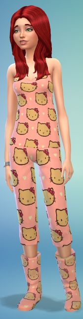 My Sims 4 Blog: Hello Kitty Pj's and Uggs by Candie Coded Sims 4