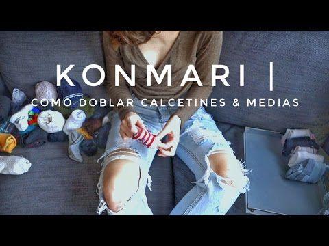 Cómo doblar calcetines & medias   Método KonMari por Marie Kondo - YouTube