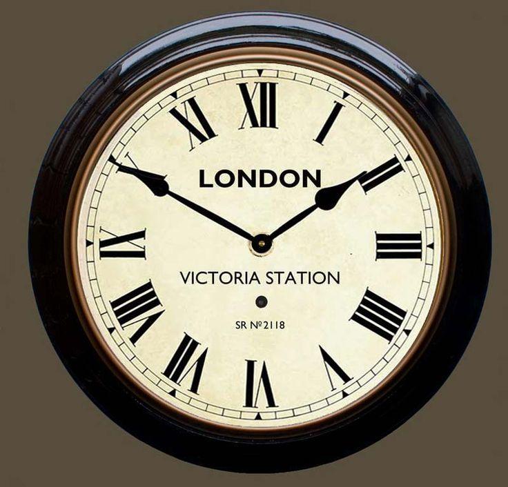 Retro Wall Clocks - Victoria Station