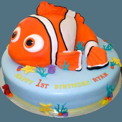 Best Ideas Images On Pinterest Cakes Fish And Fishing Cakes - Nemo fish birthday cake