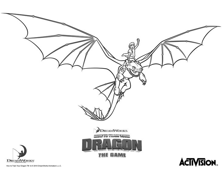 How To Train Your Dragon See More Printable Coloring Book Hiccup And Night Fury