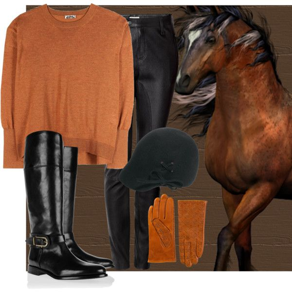 """""""Horse riding"""" by madlene-137 on Polyvore"""