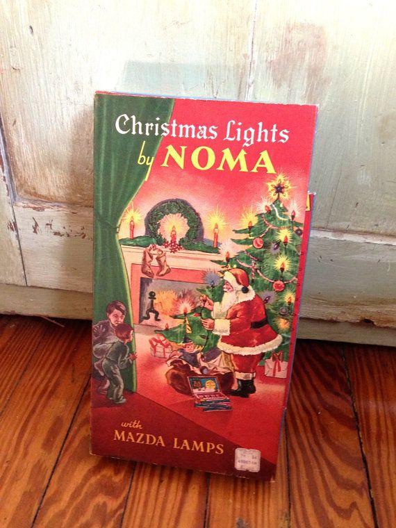 Noma Christmas Lights Vintage Christmas by VintageChristmasJunk