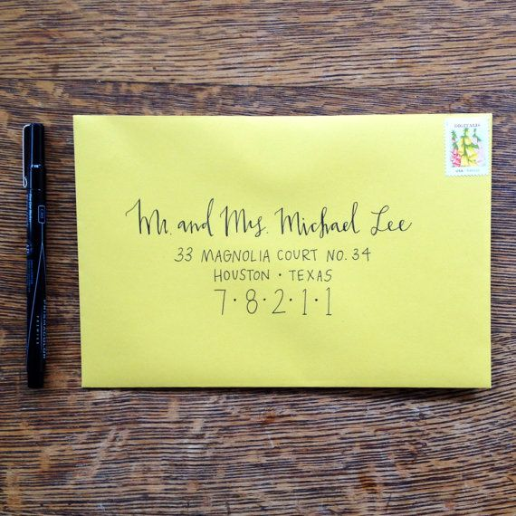 Wedding Hand Lettering Envelope Addressing by Mint & Maple