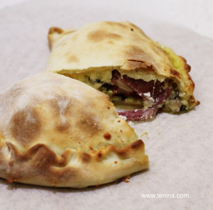 Roasted Vegetable Calzone with Garlic Pesto - Cooking with Tenina