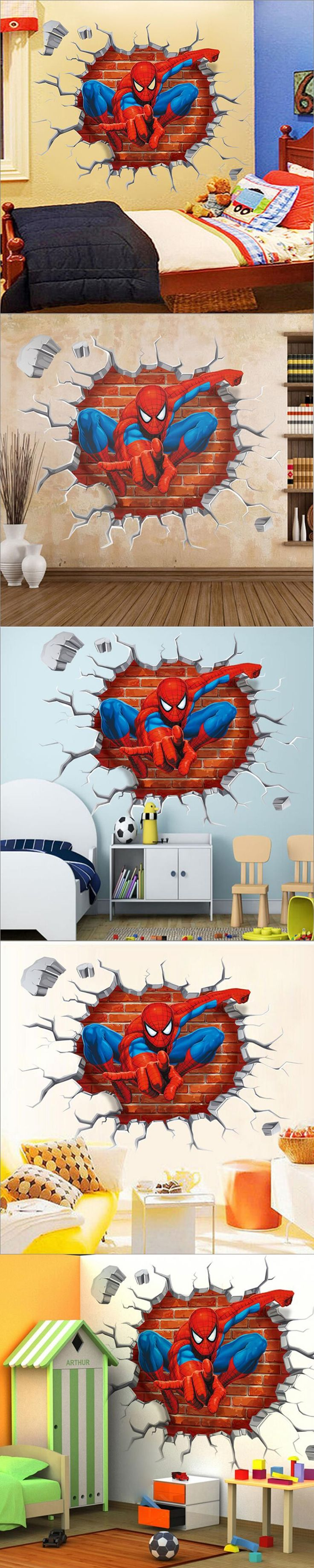 Best 25 personalised wall stickers ideas on pinterest time 2015 3d spiderman wall stickers for kids rooms decals home decor personalized kids nursery wall sticker decoration for boy room amipublicfo Choice Image