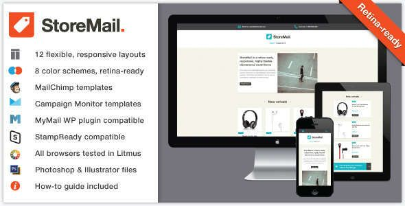 180 Absolute Best Responsive Email Templates - StoreMail: Responsive eCommerce Retina Email Theme