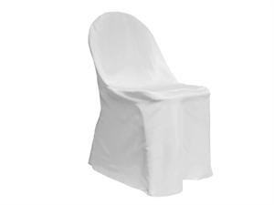 White or Black polyester FOLDING chair covers for rent.  Only $1.00 each.   these chair covers will fit metal and plastic folding chairs.   Shipping is extra.  Please visit our website for more info.http://bestdressedbridalandlinens.com/Specials-and-Promotions.php.  Request a shipping quote as well.