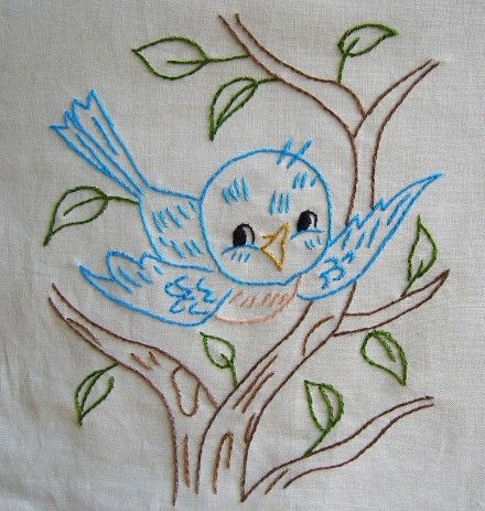 This reminds me of dishtowels we would get as wedding presents from aunts.