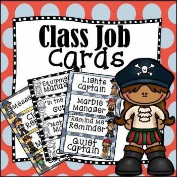 Class Jobs, Teacher Tools, Classroom Tools, Pirates, Back to School, Organization