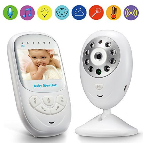 """Video Baby Monitor GooDee 2.4"""" TFT LCD Baby Monitor with Night Vision Two Way Voice Talk Temparature Monitoring & Built-in Lullabies -Upgraded"""