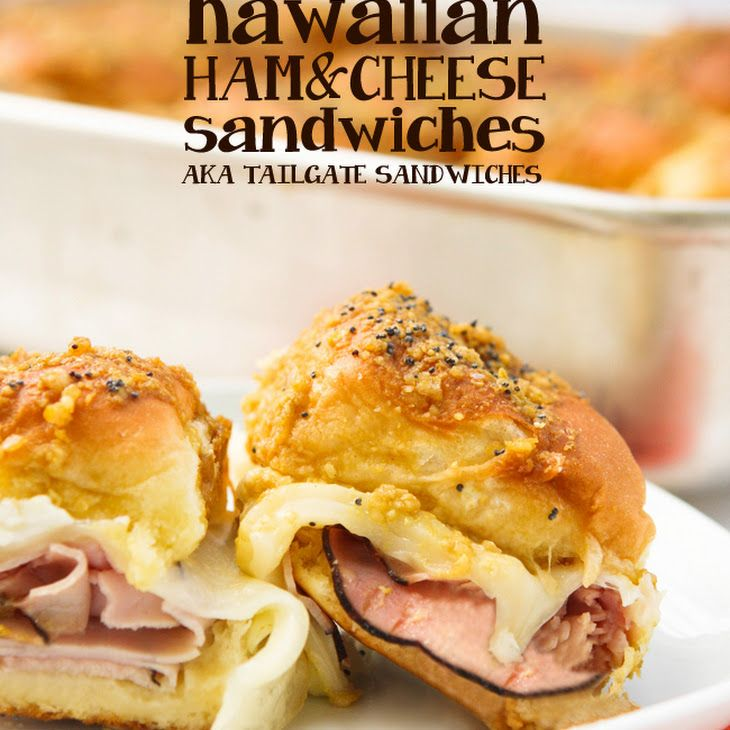 Hawaiian Ham and Cheese Sandwiches (aka Tailgate Sandwiches) Recipe ...