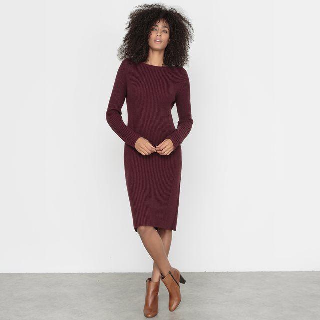 Long-Sleeved Knitted Dress