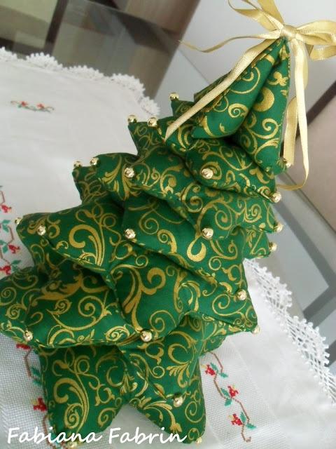 Árvore de Natal em Tecido - Tutorial