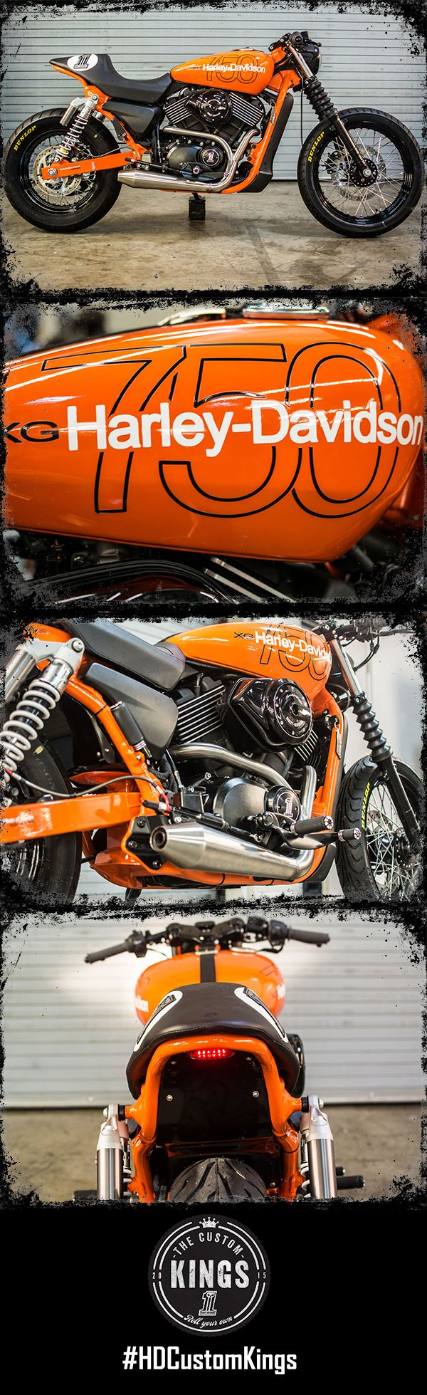 Harley-Davidson of Macon throws it back for their build. The inspiration on this #HDStreet comes from a '78 Harley-Davidson MX 250. #RollYourOwn | Harley-Davidson #HDCustomKings