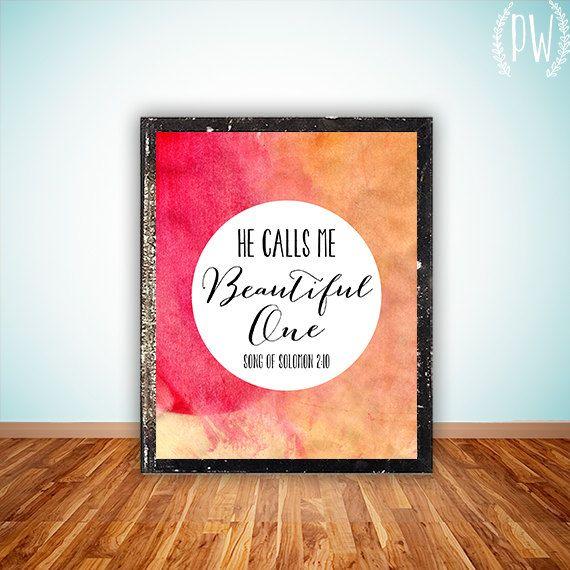 Bible Verse Art Printable Print Wall Decor Poster Nursery Wedding Inspirational Quote Beautiful