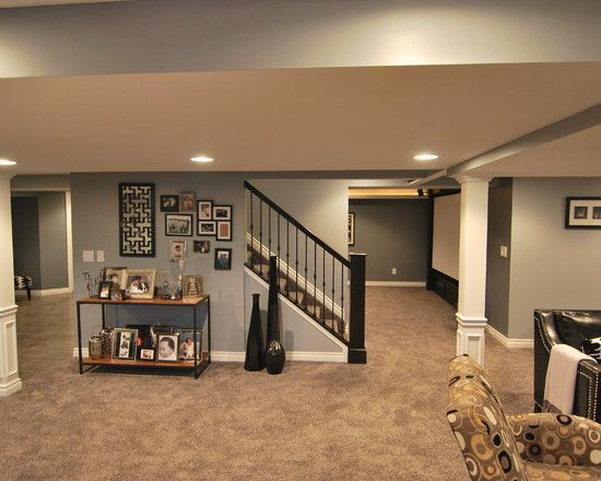 1000 ideas about basement layout on pinterest basements hardwood floor colors and small - Refinishing basement ideas ...