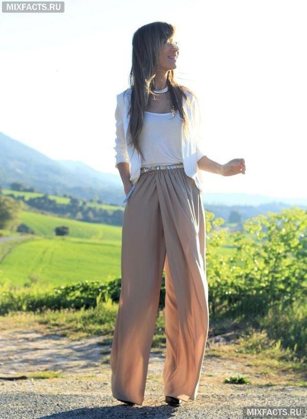 с чем носить широкие брюки палаццо