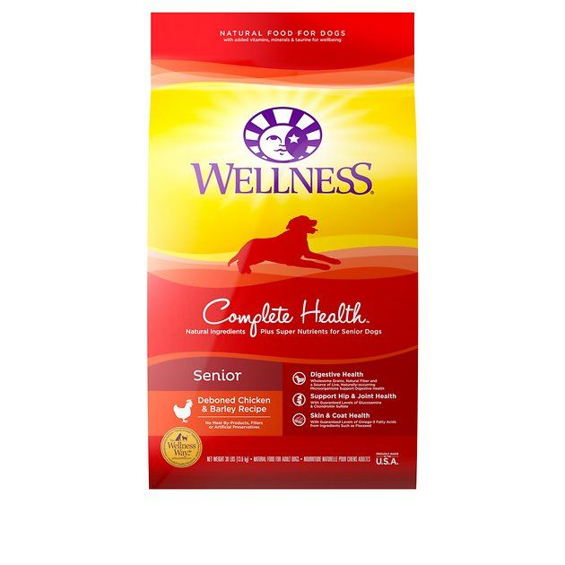 Buy Wellness Complete Health Senior Deboned Chicken Barley Recipe Dry Dog Food 30 Lb Bag At Chewy Com Free Ship Natural Cat Food Dry Cat Food Cat Nutrition