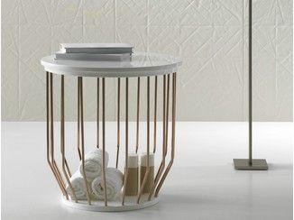 Laundry container / bathroom stool BOWL | Bathroom stool - INBANI