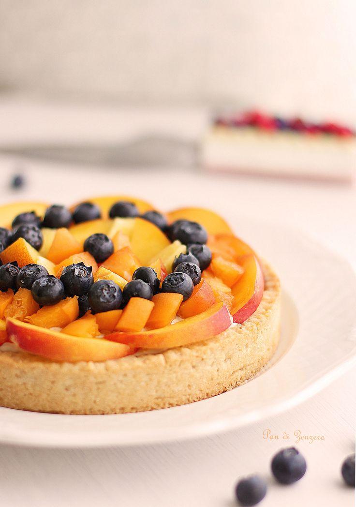 Crostata con crema pasticceria e frutta fresca #vegan