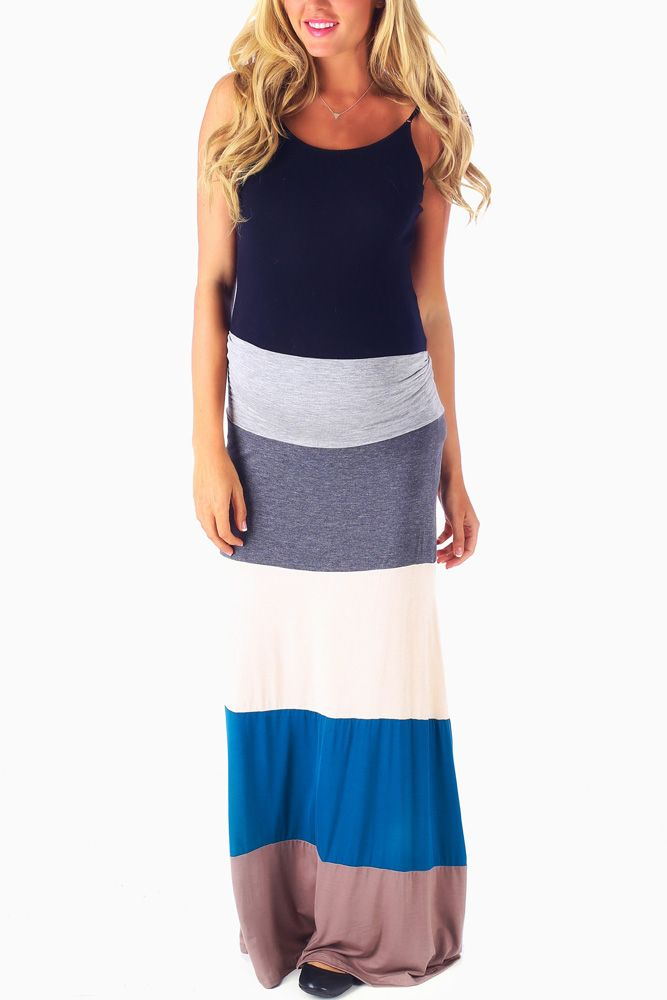Teal-Grey-Mocha-Colorblock-Maternity-Maxi-Skirt #maternity #fashion #cutematernityclothing #cutematernityskirts #falloutfits #falltrends