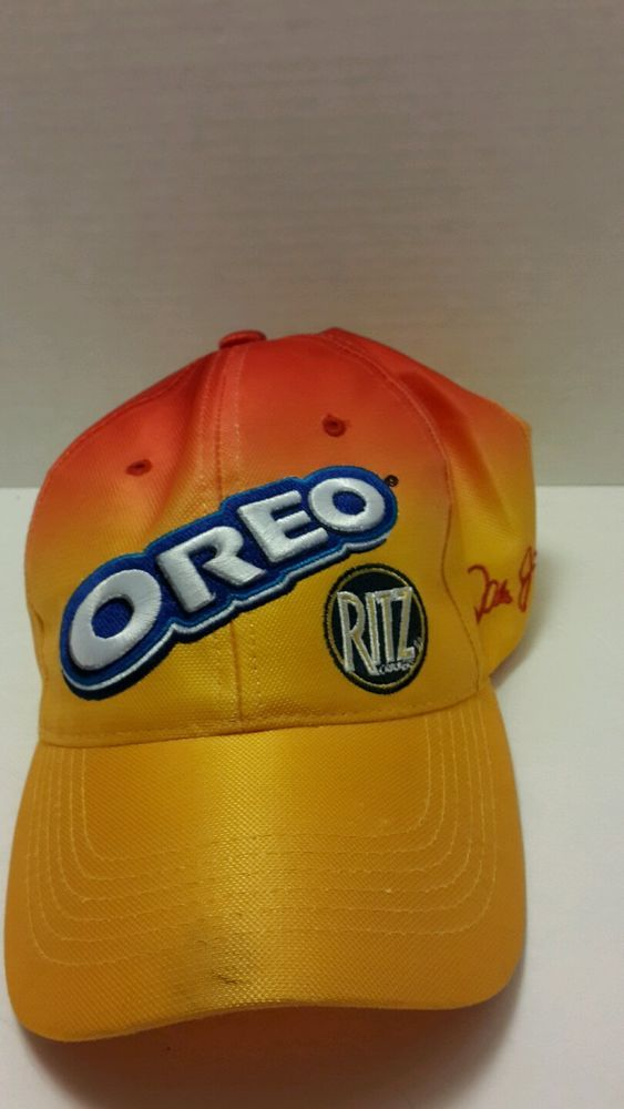 Dale Jr Nascar Hat Oreo Ritz Adjustable Chase Authentic Orange Red #Chase