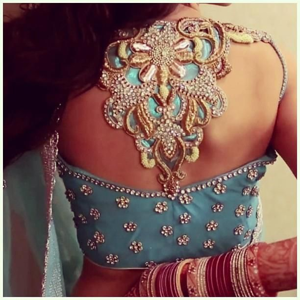Gorgeous Open Back Embroidered #Blouse.