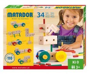 Starter Holzbaukasten Ki 0 von Matador mit 34 Teilen