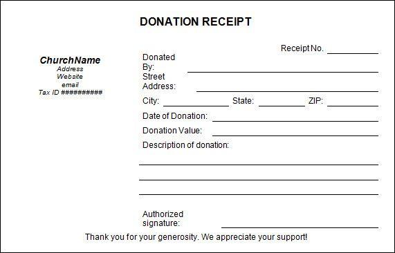 Church Donation Receipt Template Jpg 571 366 Donation Letter Template Donation Letter Donation Form