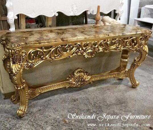 Jual furniture jepara konsul ukir klasik produk mebel berkualitas