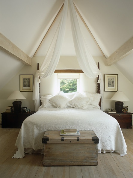 Bedroom Decor - Country Living Wow! That ceiling! Perfect for the canopy