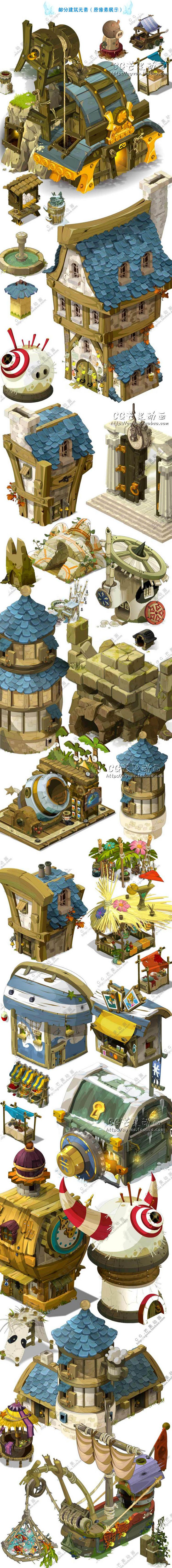 游戏美术资源/场景原画/UI素材/Q版卡... That's right. I meant to type that.  I believe these are from Dofus.