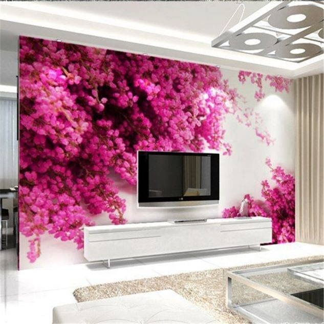 12 3D Wallpaper for TV Wall Units That Will Make a Statement | tabel ...