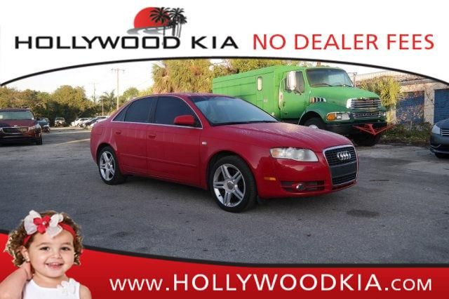 This 2007 Audi A4 is listed on Carsforsale.com for $4,988 in Hollywood, FL. This vehicle includes 2 liter inline 4 cylinder DOHC engine, 200 hp horsepower, 4 Doors, 4-wheel ABS brakes, 8-way power adjustable drivers seat, Air conditioning with dual zone climate control, Audio controls on steering wheel, Center Console - Full with storage, Clock - In-dash, Compressor - Intercooled turbo, Cruise control, CVT Transmission, External temperature display, Front fog/driving lights, Front seat ...