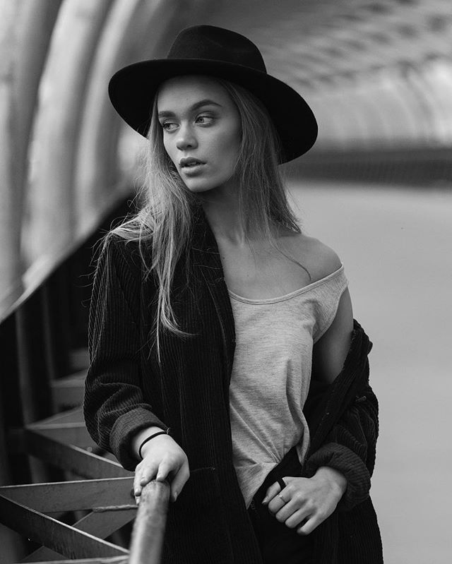 Tyra by Drazena   @tyrrra and @drazena_krstic_photography team up together for this dreamy shoot in Melbourne.  She wears the Black Hat from Alkaline Lane
