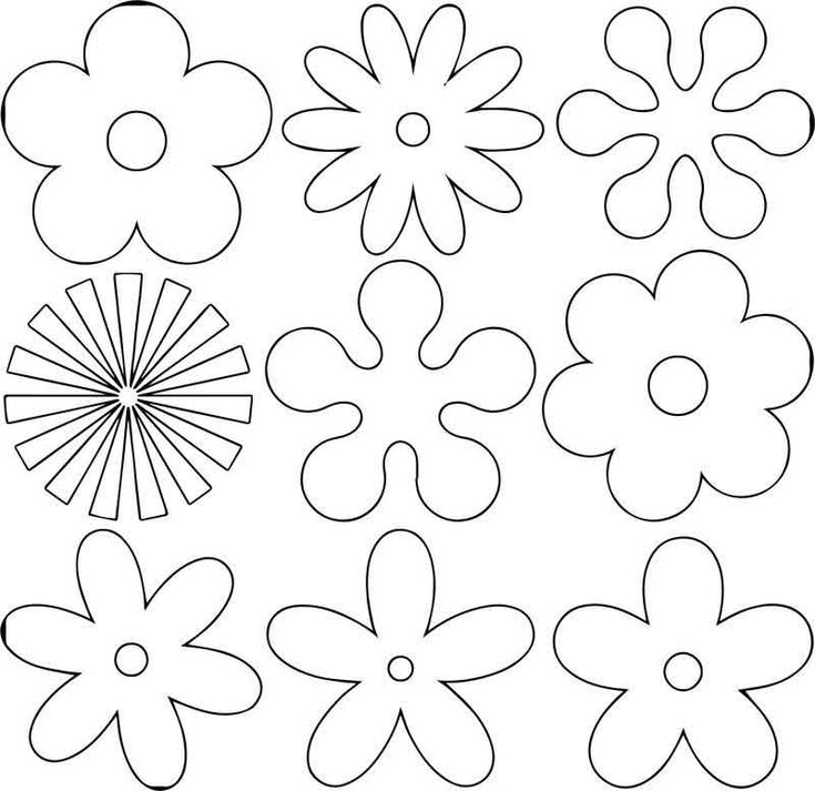 Flower Shape Coloring Page – Coloring Sheets For Kids