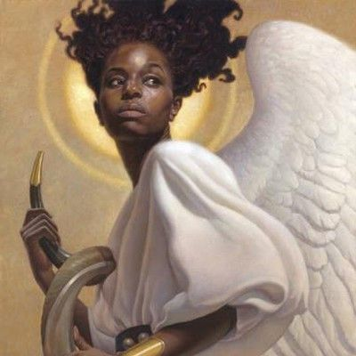 africanamerican angel art prints gifts and collectibles