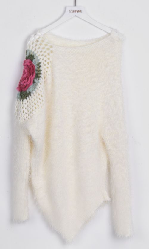 This sweater is so adorable!! We love the soft pure color but irregular hemline is really what drew us in!! We love how delicate and feminine it all is! Find more at Cupshe.com !