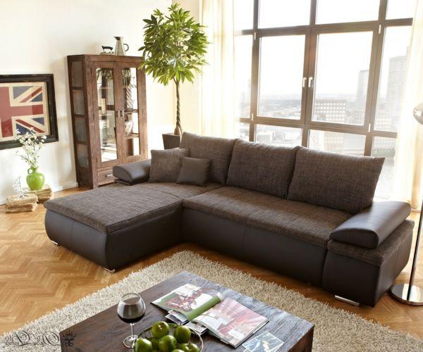 Modernes Braunes Sofa Im Wohnzimmer