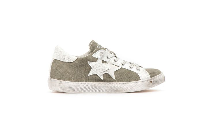 Sneaker 2 Two Star Donna 2sd1445 low kaky bianco spring summer 2017