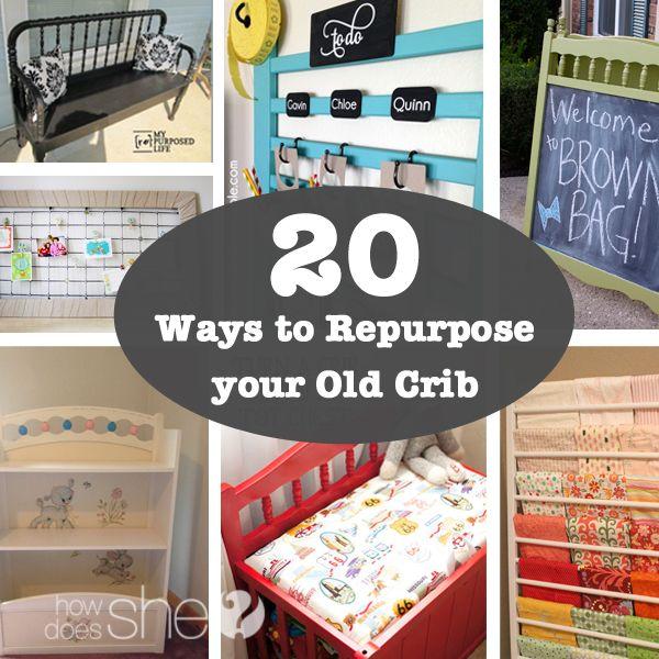 20 Ways to Repurpose your old Crib