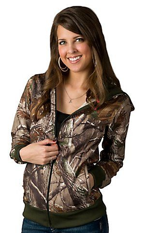 Under Armour Cold Gear Womens Realtree Camo Zip Up Hooded Jacked | Cavenders Boot City