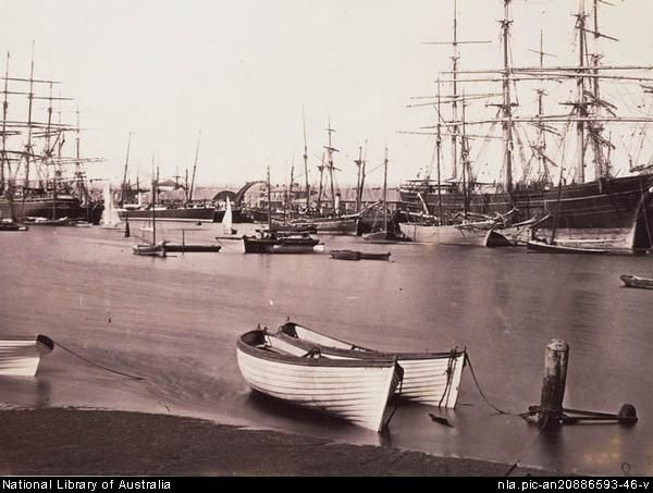 Immigrants to South Australia, (UK, assisted passage) 1847-1886 Scene at Port Adelaide