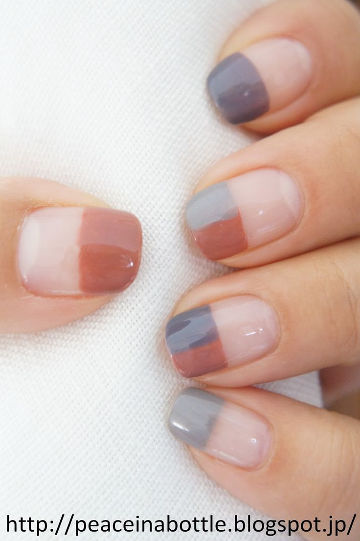 negative space nailart @peaceinabottle #nails manicure muted half-nail